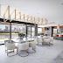 Espaço gourmet contemporâneo cinza e dourado com iluminação diferenciada e decor refinado!