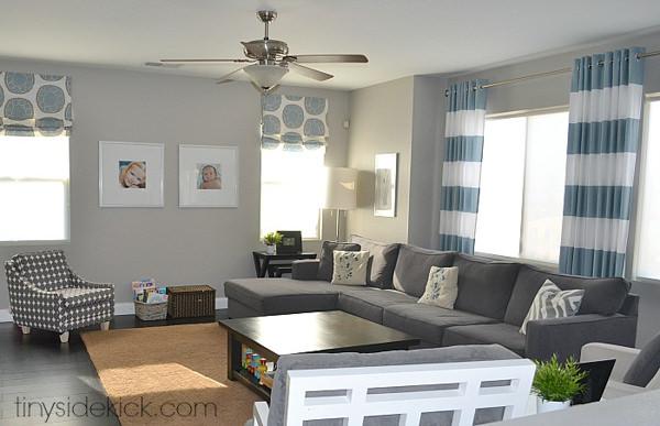 Sherwin Williams Requisite Gray living room