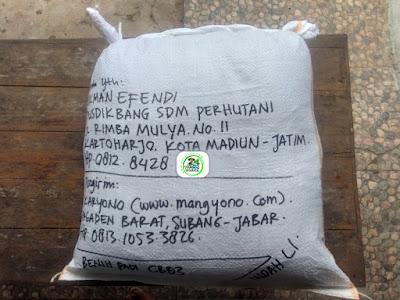 Benih Padi yang dibeli   LUKMAN EFENDI Madiun, Jatim.    (Setelah packing karung).