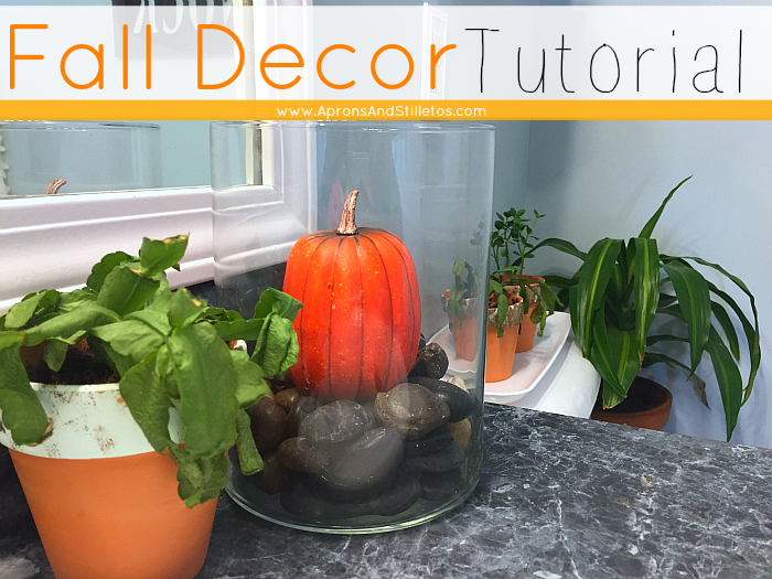 Prepping Your Guest Bath for the Holidays Plus a Fall Decor Tutorial