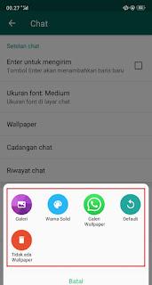 Cara Mengganti Wallpaper CHAT di WhatsApp