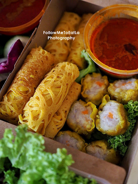 Roti Jala and Curry, Chicken Siew Mai,