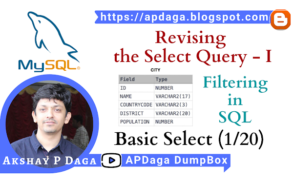HackerRank: [Basic Select - 1/20] Revising the Select Query - I | Filtering in SQL