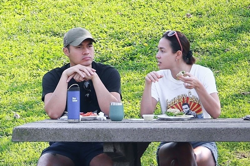 Liv Lo and Henry GOLDING Snapped at a Park in Los Angeles 21 Aug -2020