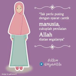 kartun islami gambar remaja muslimah cantik