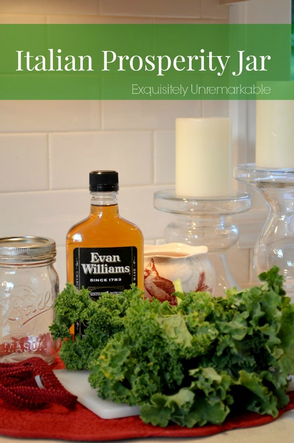 Mason Jars And Bourbon For Italian Prosperity Jar