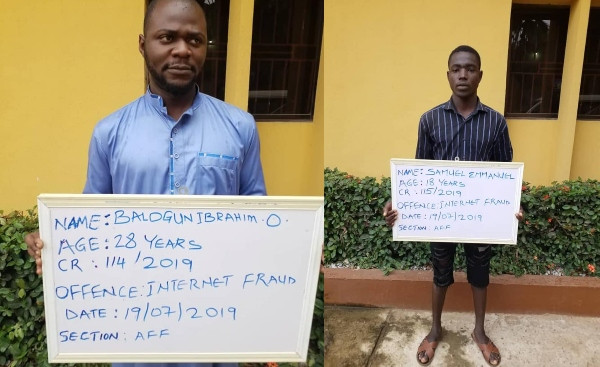Two Yahoo Boys Bag 6 Months Jail Sentence Without An Option Of Fine