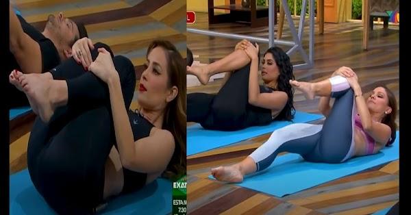 Conductoras de Venga la Alegría la rompen haciendo yoga y paran miles de.... corazones