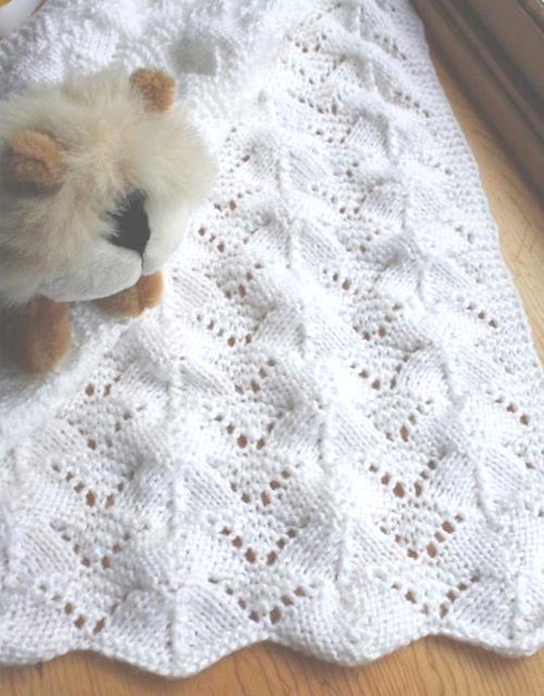 Reversible Lace Baby Blanket - Knitting Pattern