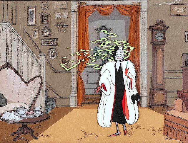 a Disney villain 1961, Cruella deVil, a powerful and evil woman