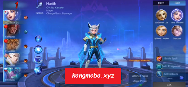 Script Skin Harith Evos M1 Full Effect Gratis Mobile Legends