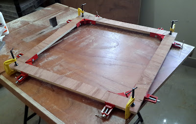 Making canvas frame from plywood
