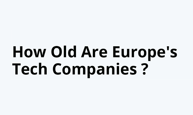 What are the ages of top European's tech companies?