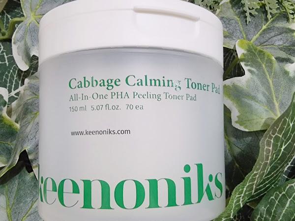 Review Keenoniks Cabbage Calming Toner Pad
