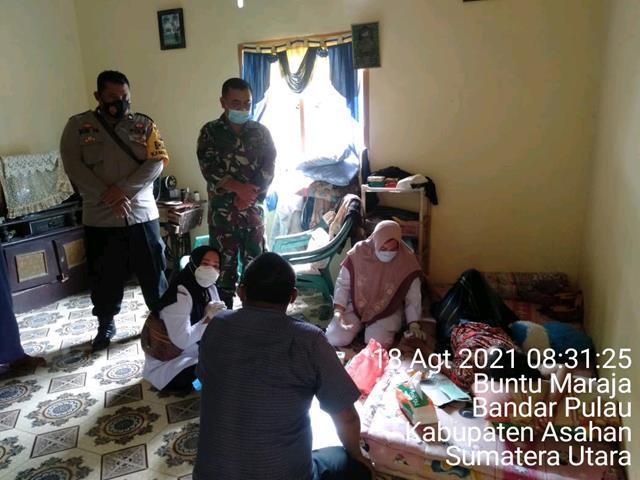 Wujudkan Kepedulian, Personel Jajaran Kodim 0208/Asahan Jenguk Warga Masyarakat Binaan Yang Sakit