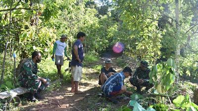 Pra TMMD ke 111 di Desa Kunyi Dimulai, Warga Bersama Anggota Kodim 1402/Polman Gelar Doa Bersama
