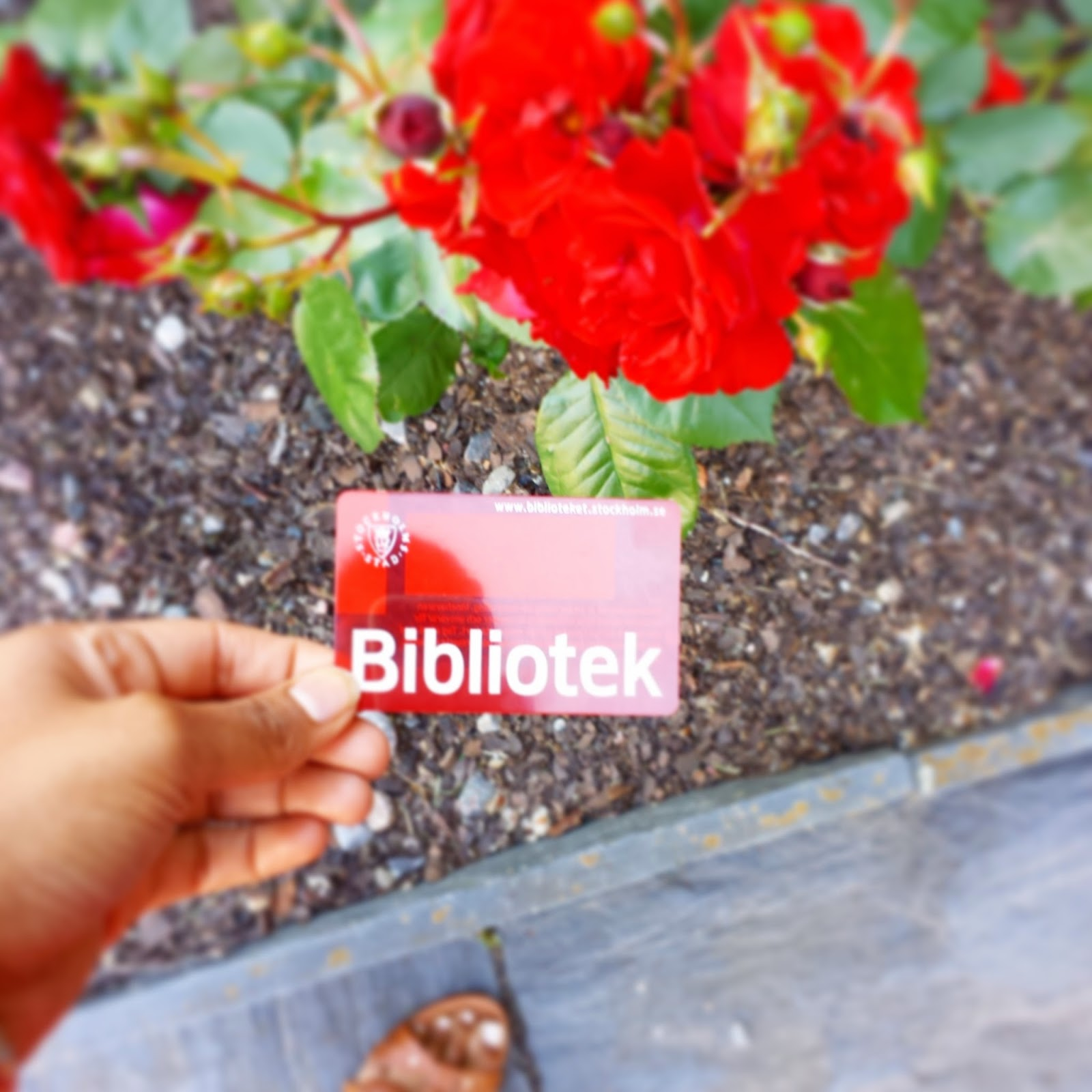 Stockholm stadsbibliotek kort (City of Stockholm Library Card)  |  Our first July 4th abroad on afeathery*nest  |  http://afeatherynest.blogspot.com