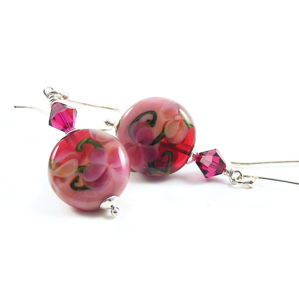 Raspberry Ice Cream Earrings by Erika Price