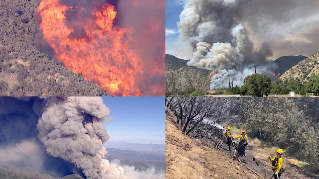 Los Angeles Ranch Fire- Three structures were destroyed and 5,420 threatened