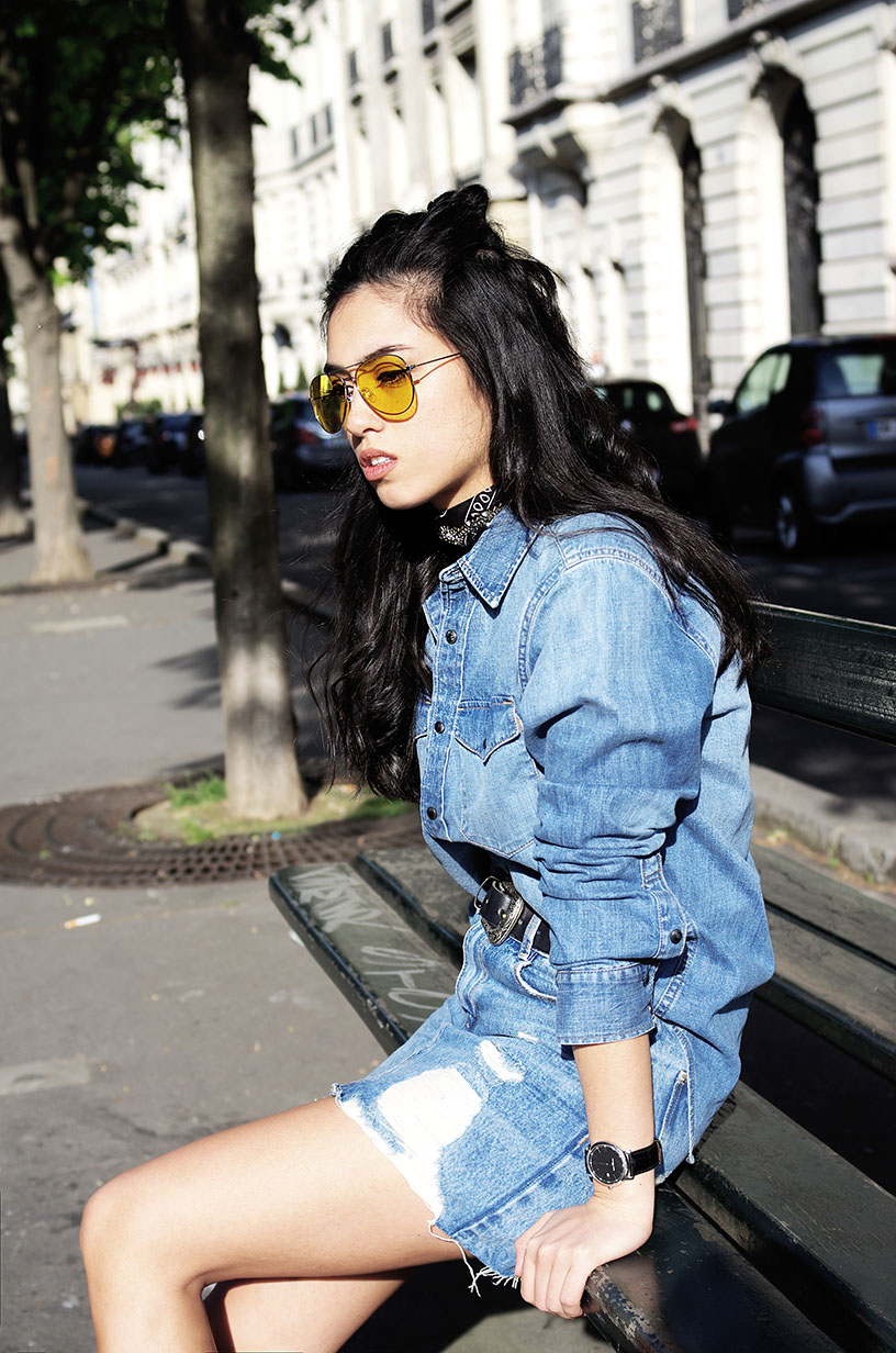 Elizabeth l Denim on denim outfit blog mode l Asos Zara H&M Vans Old Skool l THEDEETSONE l http://thedeetsone.blogspot.fr