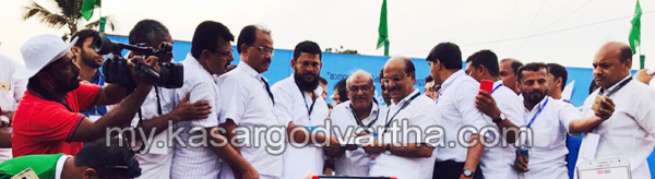 Kerala, News, Kasargod, Badiyadukka, KMCC, Fund, KMCC 9th Baithu Rahma; Fund handed over.