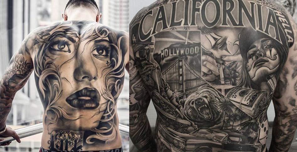 Tatuajes en negro y gris