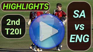 SA vs ENG 2nd T20I 15th February 2020