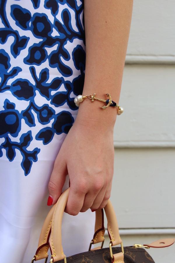 Gimme Glamour: Kiel James Patrick anchor pearl bracelet