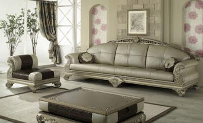 sofa mewah warna silver
