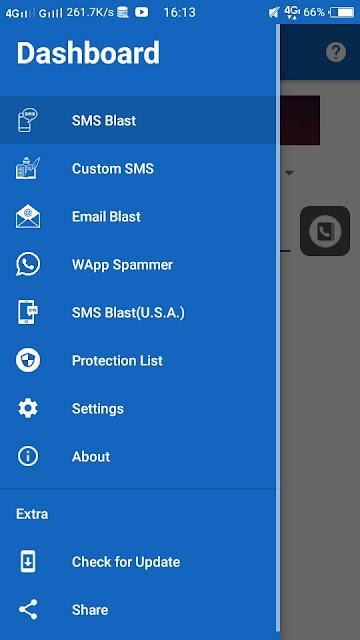 Send Email blast, send sms blast, send whatsapp blast