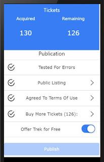 Sample trek publication screen