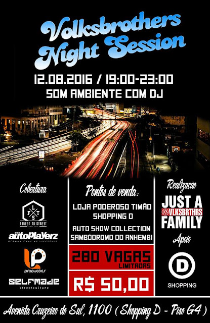 Volksbrother's Night Session: encontro automotivo bomba na internet