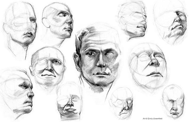 Emily's Sketchblog: 8-Minute Head Studies