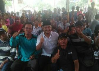H Azhari Dapat Dukungan Warga Mesuji Makmur