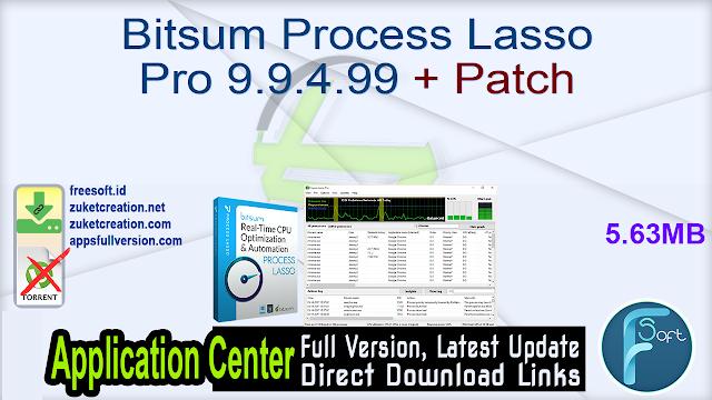 Bitsum Process Lasso Pro 9.9.4.99 + Patch