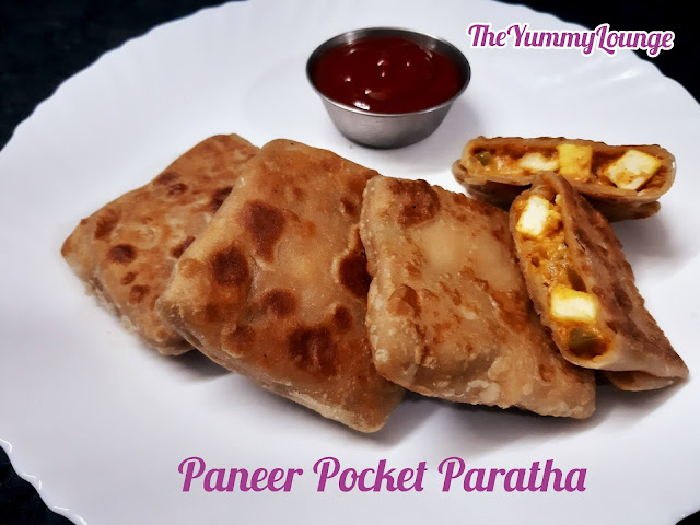 Paneer Pocket Paratha is a very unique recipe of stuffed paratha.
