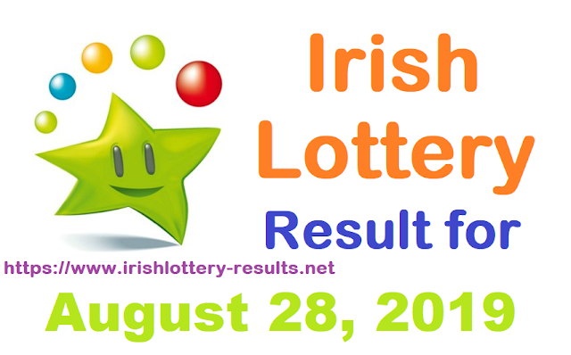 Irish Lottery Results for Wednesday, August 28, 2019
