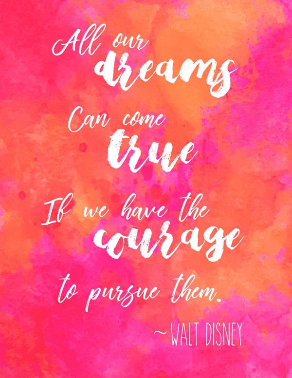 image of the inspirational quote wall art printable