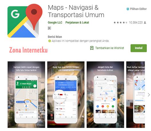 Google Maps - Navigasi & Transportasi Umum