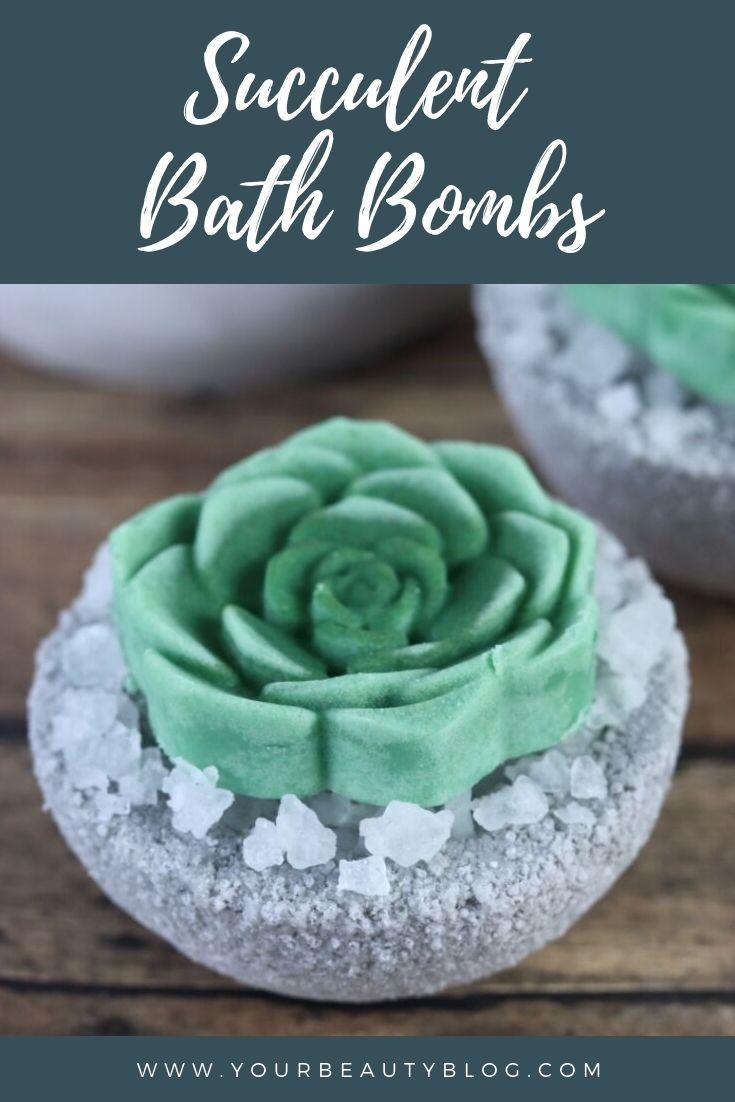 Succulent Bath Bombs Diy With A Bath Melt On Top For Dry