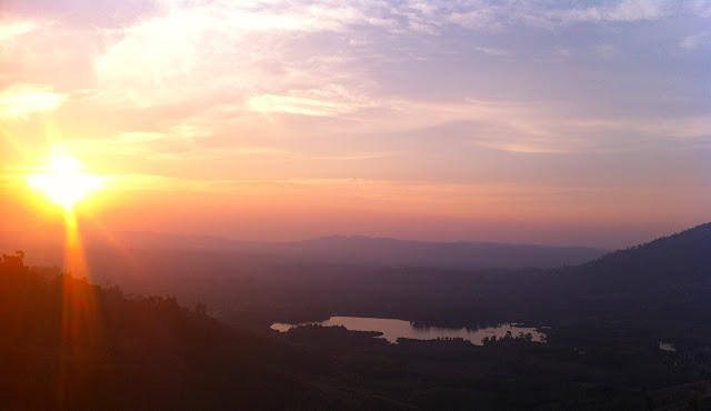 Sunset at the mountains of Khao Kho - Thailand