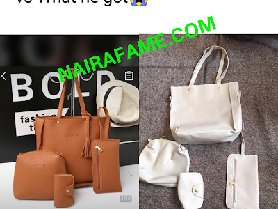 See The Bag He Ordered, See The Bag They Delivered To Him. PHOTOS