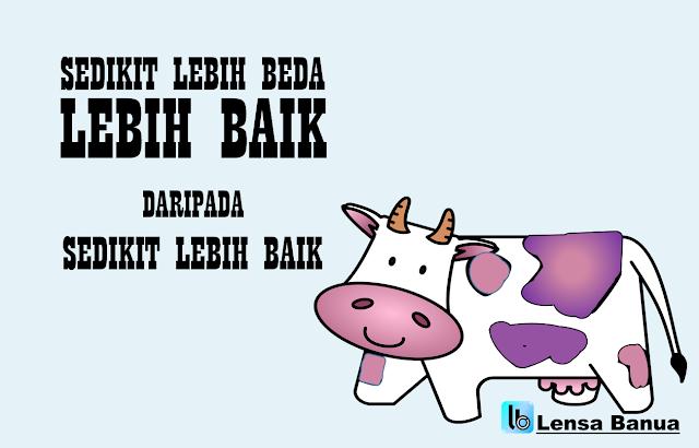 quote seth godin, purple cow, sedikit lebih baik