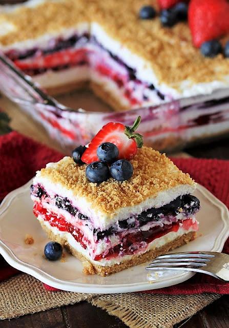 DInner Red White & Blue Mixed Berry Yum Yum Image