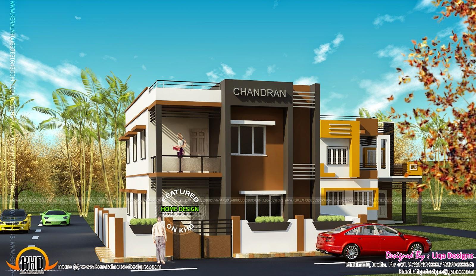 Tamilnadu Model House Kerala Home Design And Floor Plans