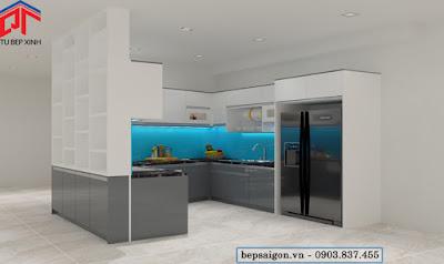 tu bep, tủ bếp, tủ bếp thông minh, tủ bếp acrylic