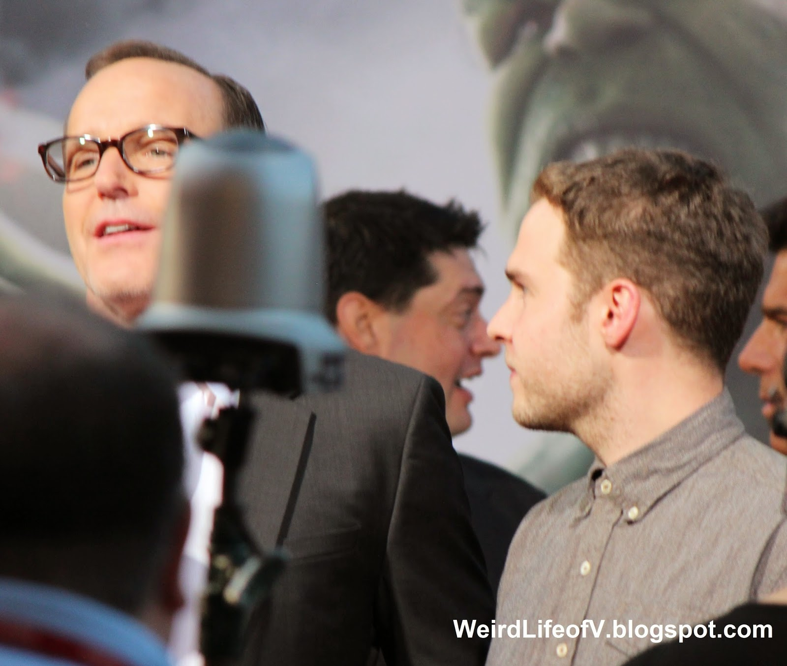 Clark Gregg with Ian De Caestecker