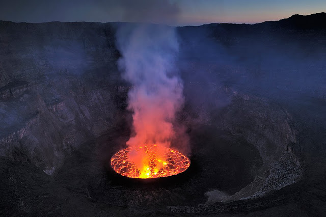 active volcanoes of the world of Democratic Republic of Congo