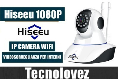 Hiseeu FH1C 1080p - IP Camera di Sorveglianza WiFi Per Interno