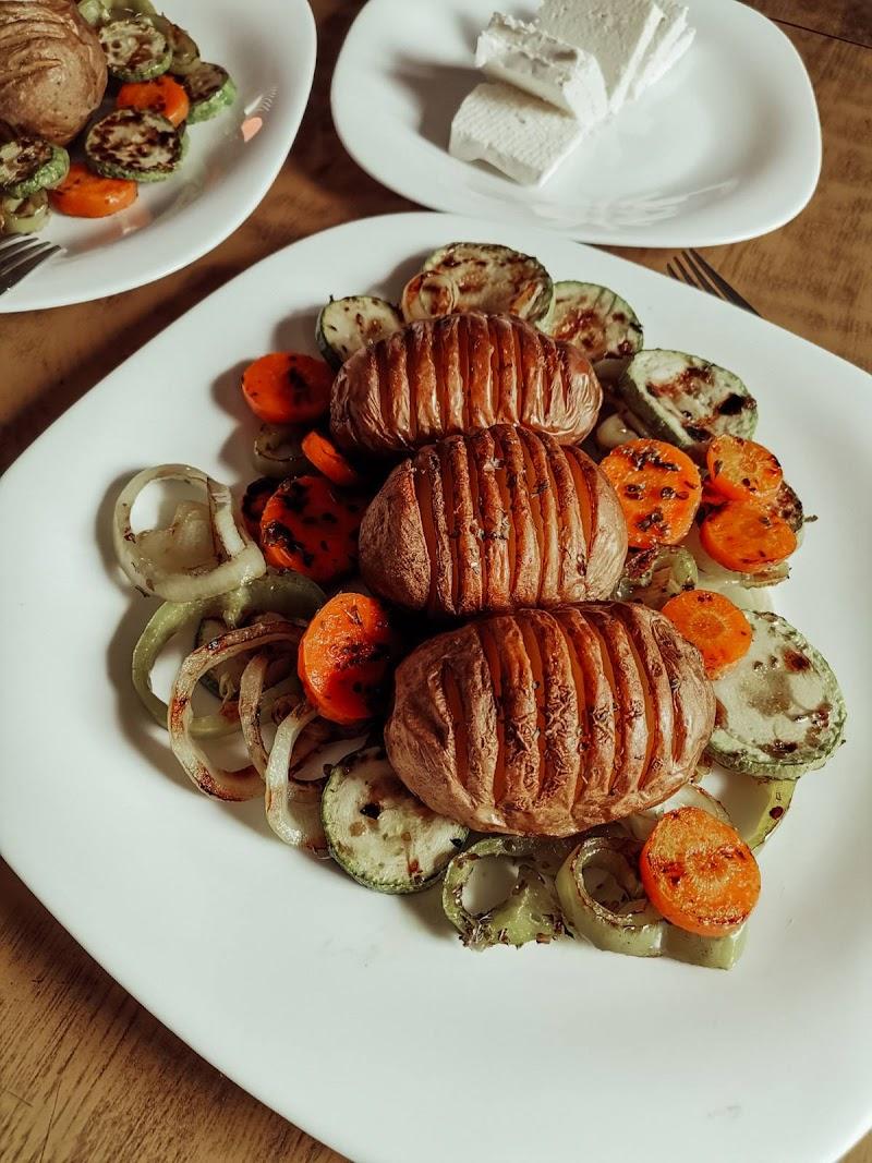 Ježići od krompira + Grilovano povrće
